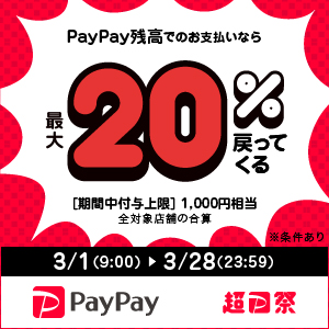 PayPay 20%OFF