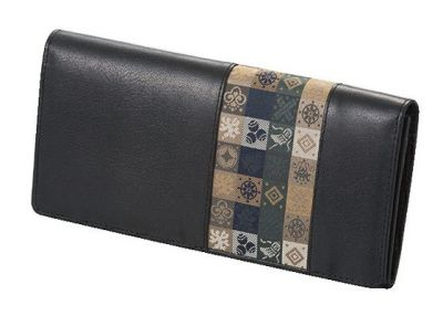 石畳緞子 (19×9.5×2cm)ブラック■美術工芸織物