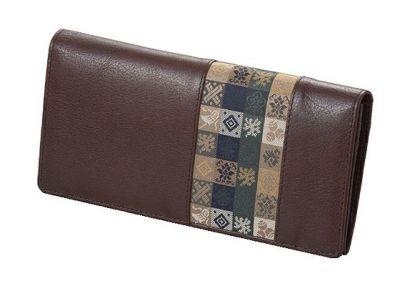 石畳緞子 (19×9.5×2cm)ブラウン■美術工芸織物