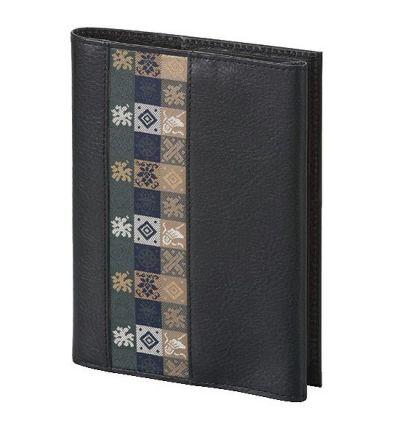 石畳緞子 (12×16.5cm)ブラック■美術工芸織物