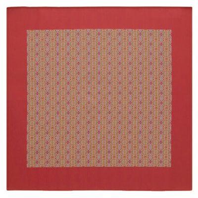 天平装鏡宝相華文錦 (91×93cm)レッド■美術工芸織物