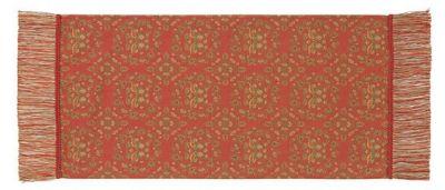 天平鴛鴦唐草文錦 (32×65cm)レッド■美術工芸織物