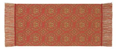 天平鴛鴦唐草文錦 (42×87cm)レッド■美術工芸織物