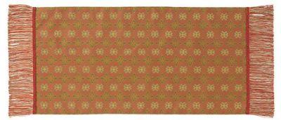 赤地花文錦 (32×63cm)レッド■美術工芸織物