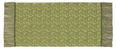 ペルシャ狩猟文錦 (42×82cm)グリーン■美術工芸織物