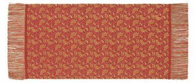 ペルシャ狩猟文錦 (42×82cm)レッド■美術工芸織物