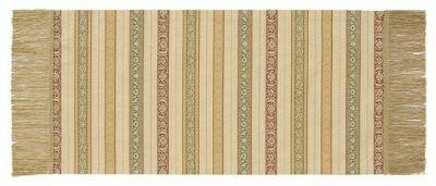 花唐草段モール (32×65cm)ベージュ■美術工芸織物