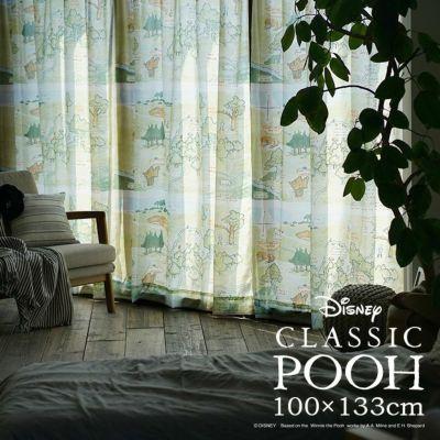 レースカーテン POOH/100エーカーの森 (幅100×丈133cm)1枚入