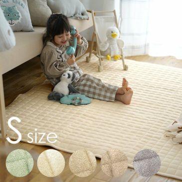 洗える タオル素材の綿100%ラグ コットンキルト (130×185cm)