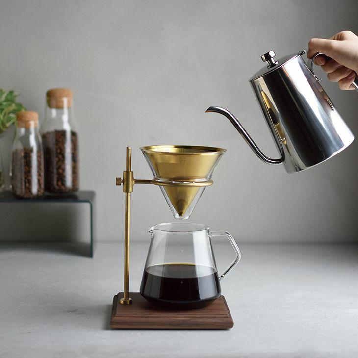 KINTO キントー 北欧インテリアに合う、おしゃれな佇まいのブリュワースタンドセット 4cups SLOW COFFEE STYLE SPECIALTY 真鍮製
