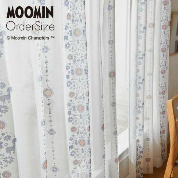 オーダーレースカーテンMOOMIN/ムーミンフォークライン(イメージ)